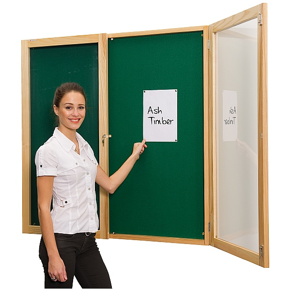 ECO Friendly Decorative Wood Frame Tamperproof Noticeboards