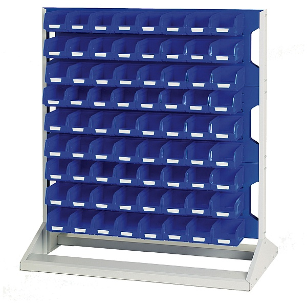 Bott Perfo Louvre Panel Static Rack 1125mm High With Bins