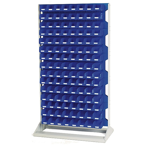 Bott Perfo Louvre Panel Static Rack 1775mm High With Bins