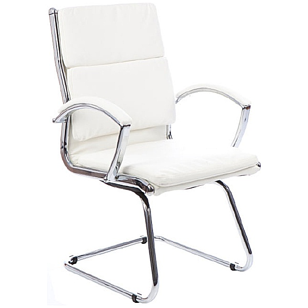 Formosa Enviro Leather Cantilever Chair White