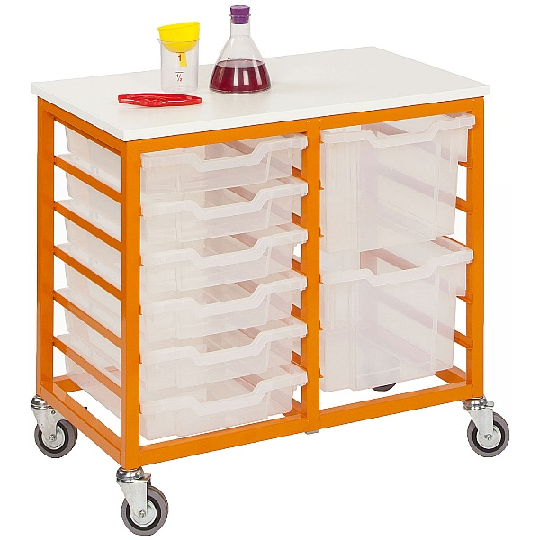 Mobile Double Column 12 Tray Trolley