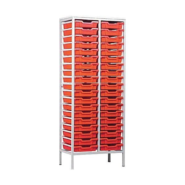 Static Double Column 38 Tray Storage Unit