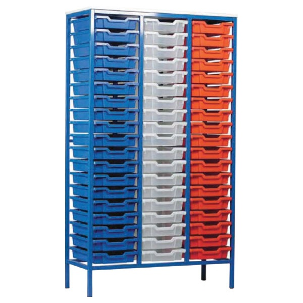 Static Triple Column 57 Tray Storage Unit