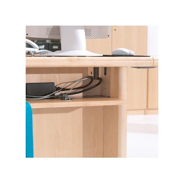 Corniche Rectangular Desk Wire Management Tray