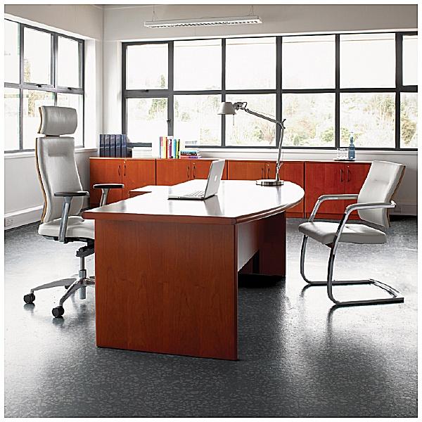 Corniche Bow Fronted Rectangular Desks