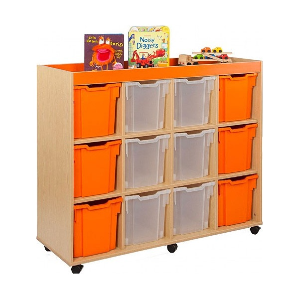 Bubblegum 12 Jumbo Tray Storage Unit