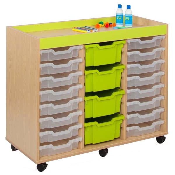 Bubblegum 24 Shallow Tray Storage Unit