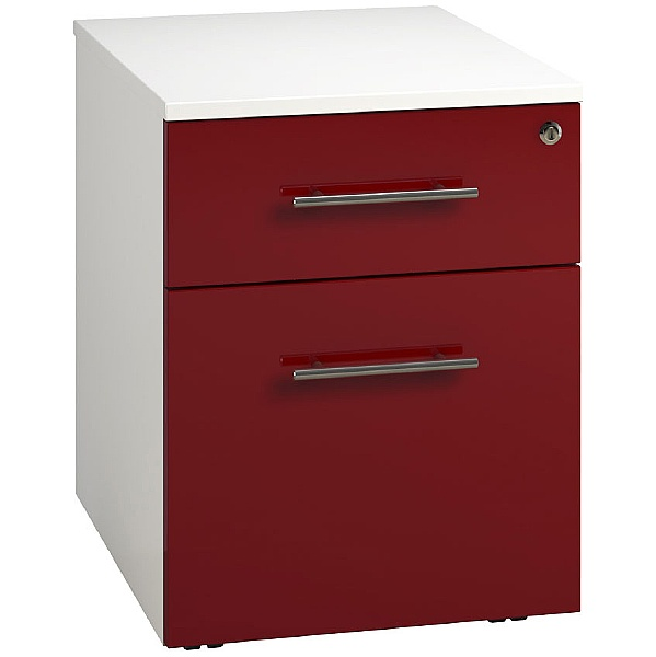 Reflections Burgundy Low Mobile Pedestals