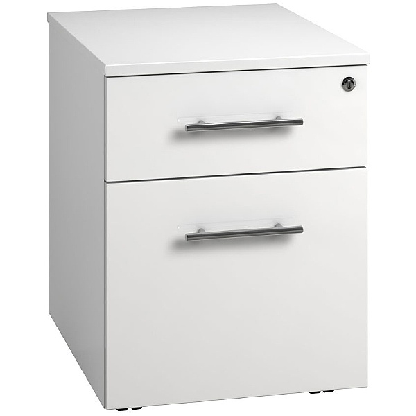 Reflections White Low Mobile Pedestals
