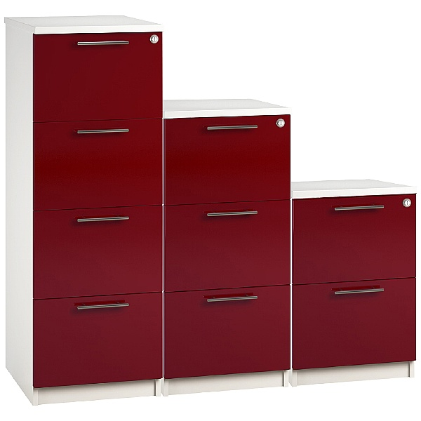 Reflections Burgundy Filing Cabinets