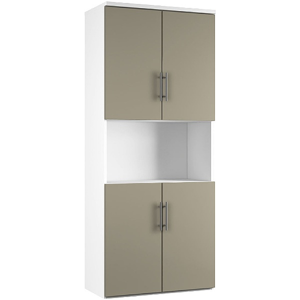 Reflections Stone Grey Twin Double Door Combination Cupboard
