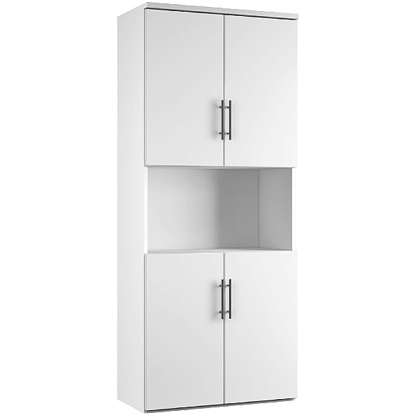 Reflections White Twin Double Door Combination Cupboard