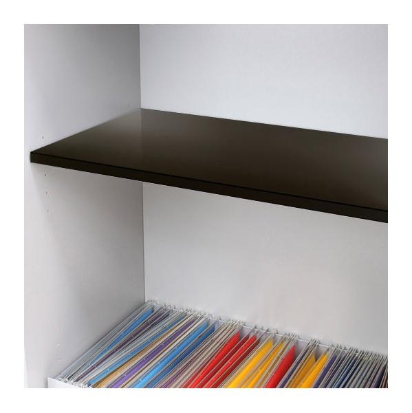 Reflections Black Steel Shelf