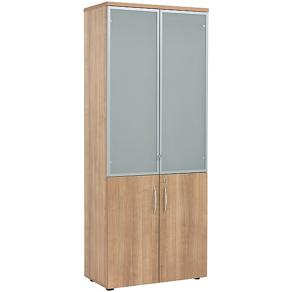 Percepta High Storage Cupboard With Glass Doors