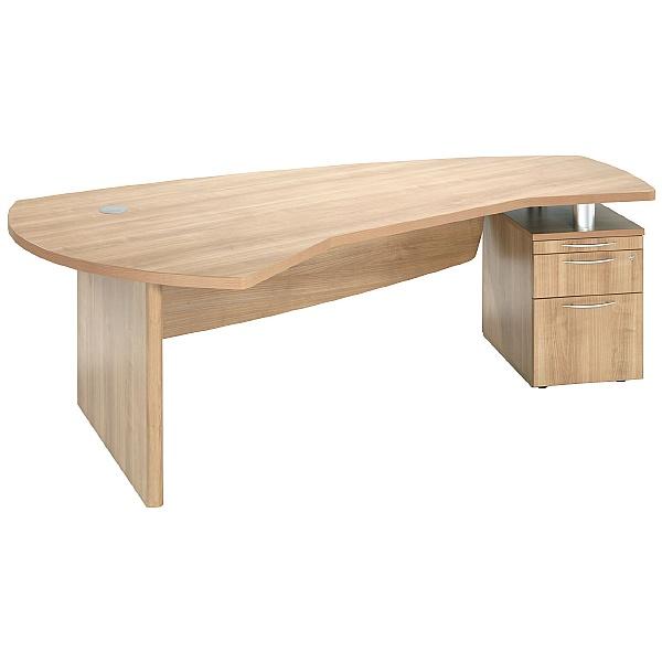 Percepta Executive Curve Desk With Pedestal