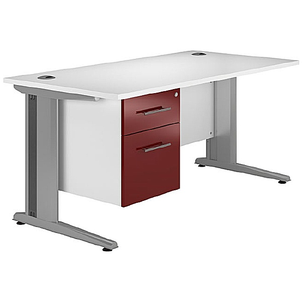 NEXT DAY Distinct Cantilever Rectangular Desks With Single Fixed pedestal