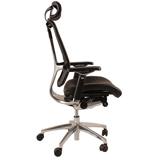 Nefil Ergonomic Leather Office Chair (With Headrest)