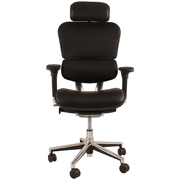 Ergohuman Leather Office Chairs (With Headrest)
