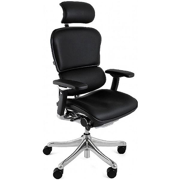 Ergohuman Plus Leather Office Chair (With Headrest)