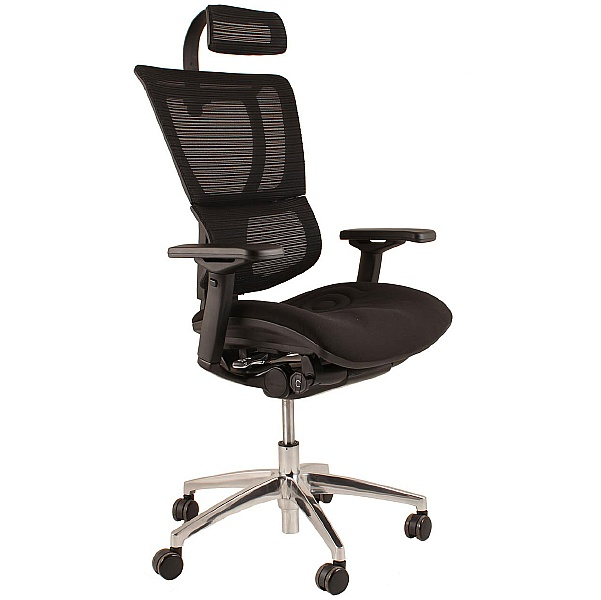 Mirus Ergonomic Mesh Office Chair (With Headrest)