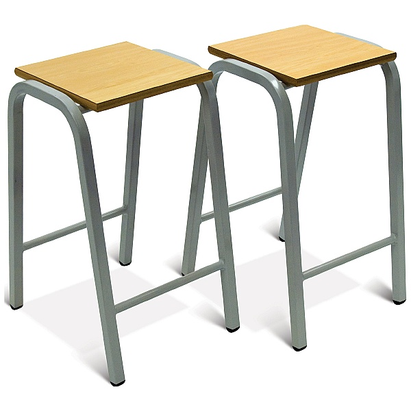 Scholar Heavy Duty Wooden Top Stool