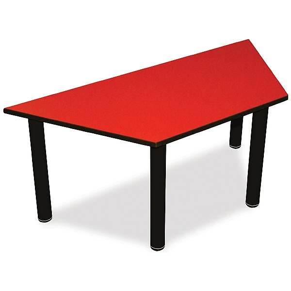 Scholar Black Frame Heavy Duty Trapezoidal Cylinder Legged Tables