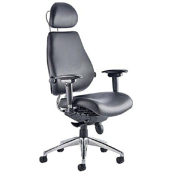 Vital 24Hr Ergonomic Plus Enviro Leather Chair With Headrest