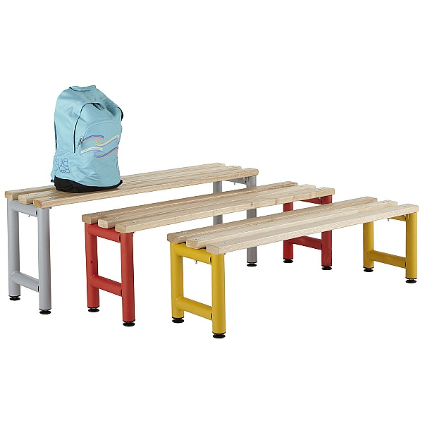 Freestanding Education Cloakroom Benches With Active Coat