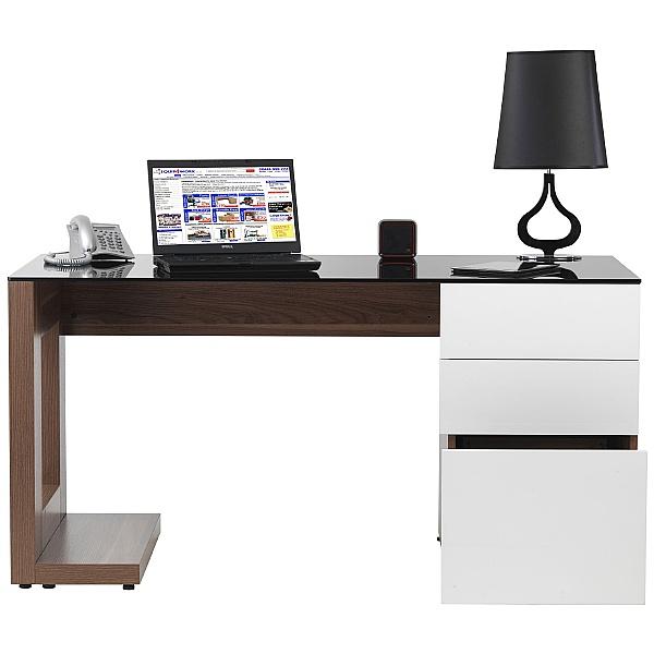 Theo Executive Walnut Computer Desk