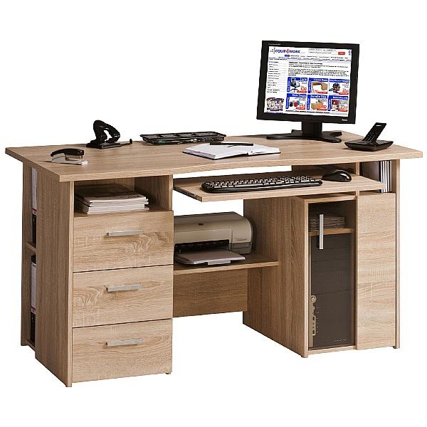 Brisbane Computer Desk Oak