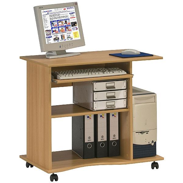 Centro Mobile Computer Desk Beech