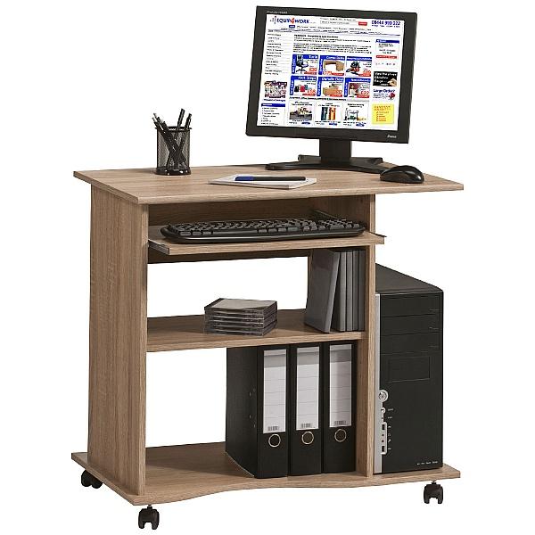 Centro Mobile Computer Desk Oak