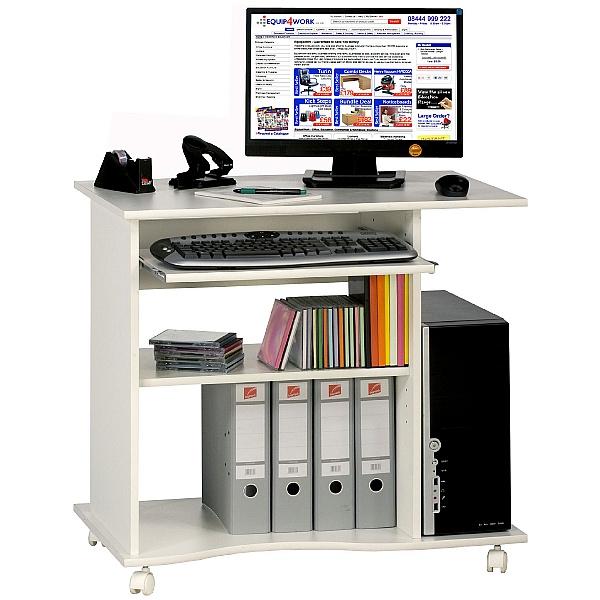 Centro Mobile Computer Desk White