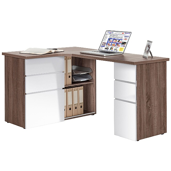 Radcliff Computer Desk Truffle Oak