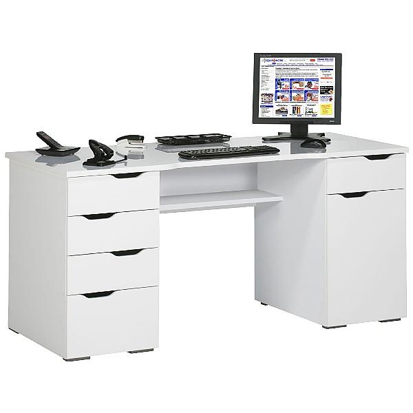 Calgary Computer Desk White