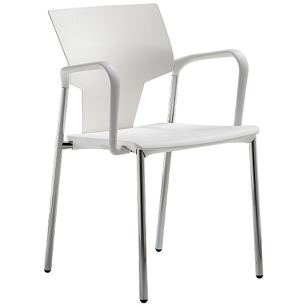 Pledge Ikon Polypropylene 4 Leg Conference Armchair