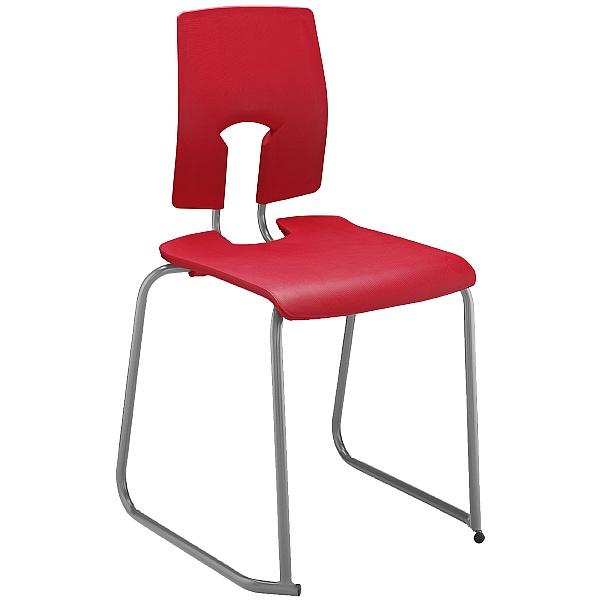 SE Classic Ergonomic Skid Base Classroom Chairs