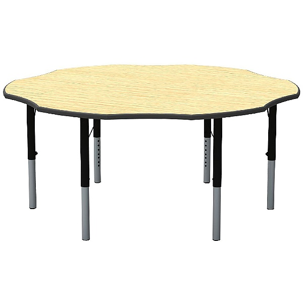 Height Adjustable Flower Theme Table