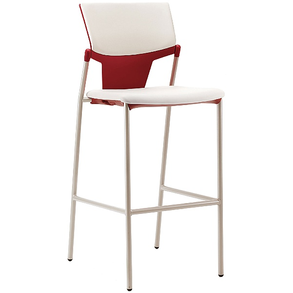 Pledge Ikon Upholstered 4 Leg Stool