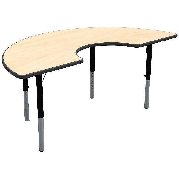 Height Adjustable Arc Theme Table