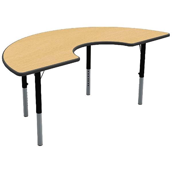 Height Adjustable Arc Theme Table