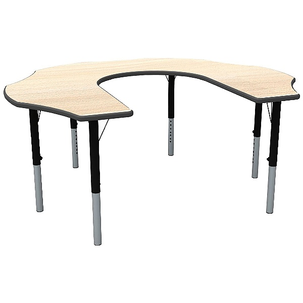 Height Adjustable Teachers Flower Theme Table