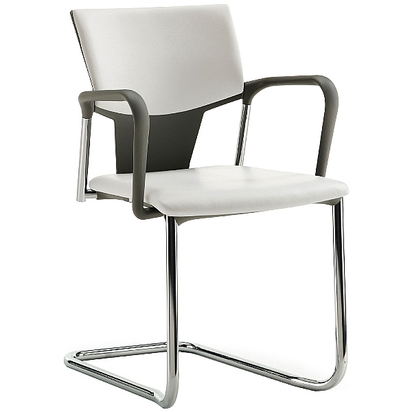 Pledge Ikon Upholstered Cantilever Conference Armchair