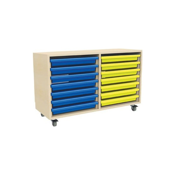 14 Tray Mobile Art & Paper Storage Unit