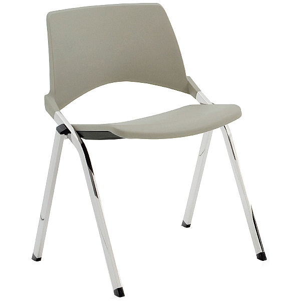Pledge La Kendo Polypropylene Stackable 4 Leg Conference Chair