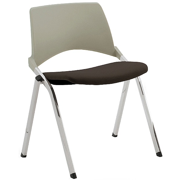 Pledge La Kendo Upholstered Stackable 4 Leg Conference Chair