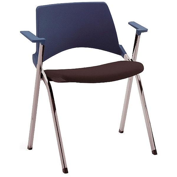 Pledge La Kendo Upholstered Stackable 4 Leg Conference Chair With Arms