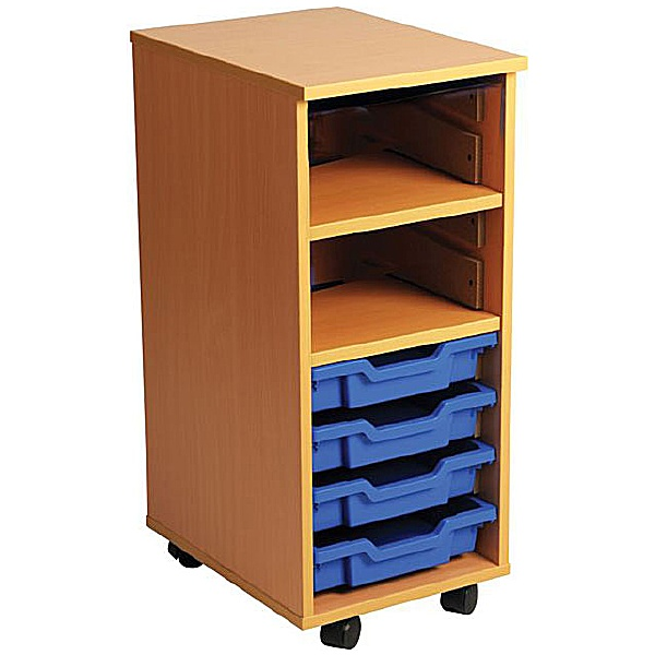 4 Tray Single Bay Mobile Storage Unit