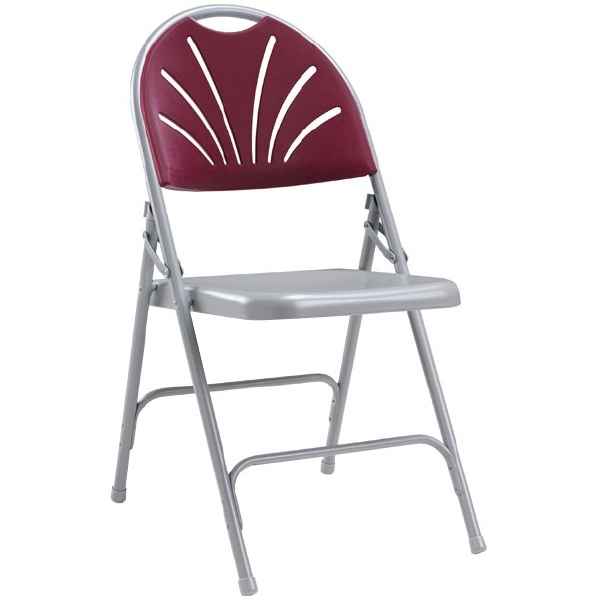 Fan Back Steel Folding Chair (Pack of 4)