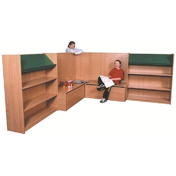 Nexus Library Corner Combination Bookcases